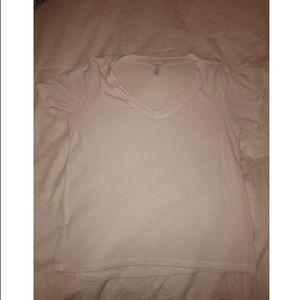 white v-neck shirt